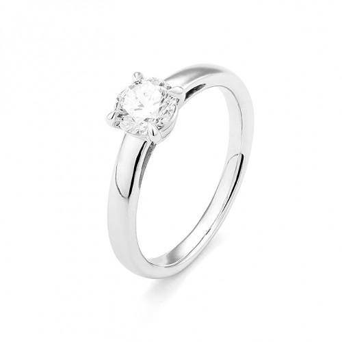 Bague or gris 750/1000 et diamant 0,15 carat by Stauffer