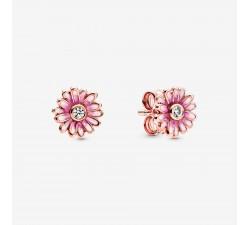 Boucles d'oreilles Marguerites roses en PANDORA Rose 288773C01