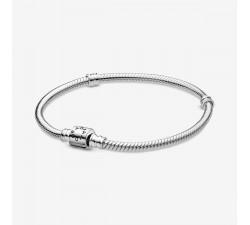 Bracelet Maille Serpent Fermoir Barillet Pandora Moments en argent 925/1000 Pandora - 598816C00