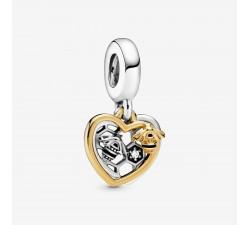 Charm Pendant Cœurs & Abeilles en Argent 925/1000 PANDORA 768838C01