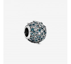 Charm Marguerite Pavé Bleu-Vert en Argent 925/1000 PANDORA 798797C01