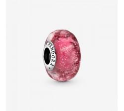 Charm Verre de Murano Rose Ondulé Fantaisie en Argent 925/1000 PANDORA 798872C00