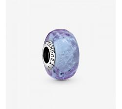 Charm Lavande en verre de Murano ondulé en Argent 925/1000 PANDORA 798875C00