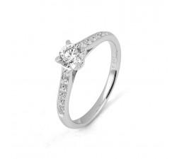 Bague or gris 750/1000 et diamants 0,20 carat by Stauffer
