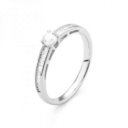 Bague or gris 750/1000 et diamants 0,45 carat by Stauffer