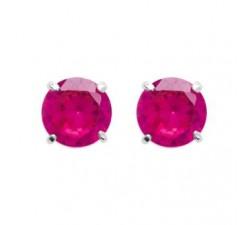 Boucles d'oreilles argent 925/1000 oxydes de zirconium 6 mm by Stauffer