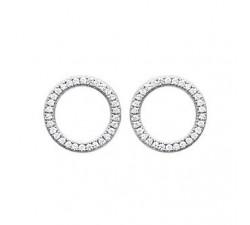 Boucles d'oreilles argent 925/1000 oxydes de zirconium by Stauffer