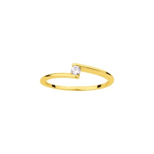 Bague or jaune 375/1000, diamant 0,07 carat by Stauffer