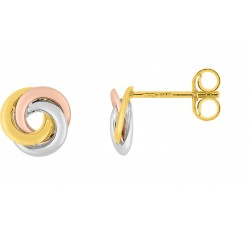 Boucles d'oreilles or tricolore 375/1000, by Stauffer
