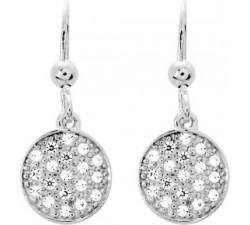 Boucles d'oreilles pendantes argent 925/1000, oxydes de zirconium by Stauffer