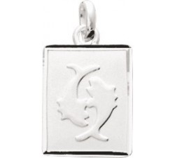 Pendentif zodiaque Poissons argent 925/1000 by Stauffer