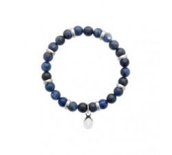 Bracelet acier jaspe bleu by Stauffer
