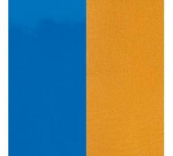 Cuir pour pendentif rond 25 MM collier Les Georgettes - Bleu vif vernis / Moutarde 703109999DE000