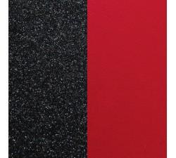 Vinyles boucles d'oreilles 16 mm Les Georgettes - Paillettes noires / rouge 703218284CG000