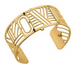 Bracelet manchette 25 MM LES GEORGETTES doré brillant Love 70341740100000