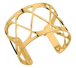 Bracelet manchette 40 MM LES GEORGETTES doré brillant Cache-Coeur 70343850100000