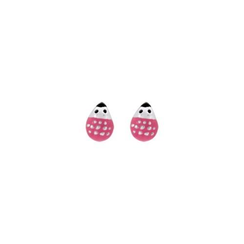 Boucles d'oreilles argent 925/1000 hérissons by Stauffer