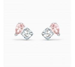 Boucles d'oreilles Attract Soul, rose, métal rhodié Swarovski 5517118