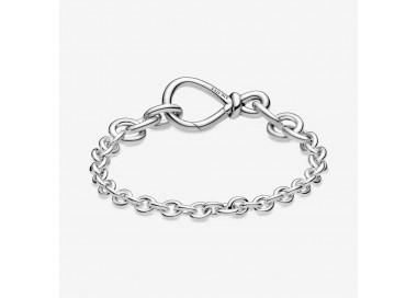 Bracelet Chaîne Nœud Infini Imposant en argent 925/1000 Pandora - 598911C00
