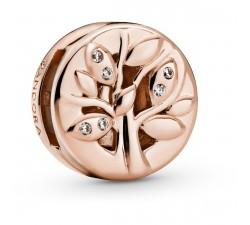 Charm Clip Arbre de Vie Scintillant Reflexions Rose PANDORA Rose, métal doré à l'Or Rose fin 585/1000ᵉ - 788822C01
