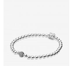 Bracelet Sphère et Pavé en argent 925/1000e PANDORA 598342CZ