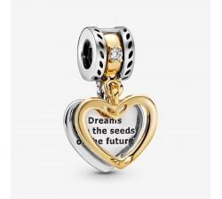 Charm Pendant Cœur Séparable Les Semences de l'Avenir en Argent 925/1000 PANDORA 768668C01