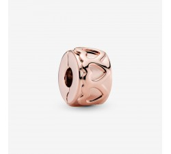 Charm Clip Couronne de Cœurs en Pandora Rose 781978