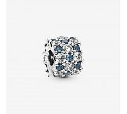 Charm scintillant bleu Incolore en Argent 925/1000 PANDORA 798487C02