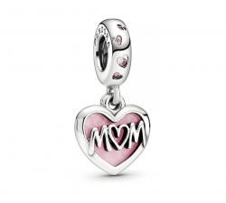 Charm Pendant Cœur Inscription Mum (Maman) en Argent 925/1000 PANDORA 798887C01
