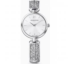 Montre Dream Rock, bracelet en métal, ton argenté, acier inoxydable Swarovski 5519309