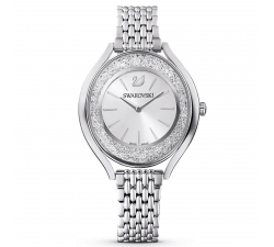 Montre Crystalline Aura, bracelet en métal, ton argenté, acier inoxydable Swarovski 5519462
