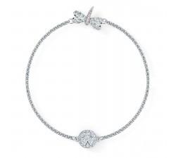 Bracelet Strand Swarovski Remix Collection Dragonfly, blanc, métal rhodié 5520650