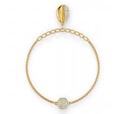 Bracelet Strand Swarovski Remix Collection Shell, blanc, métal doré 5521347