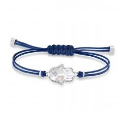 Bracelet Swarovski Power Collection Hamsa Hand, bleu, acier inoxydable 5523154