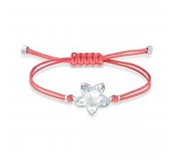 Bracelet Swarovski Power Collection Flower, rouge, acier inoxydable 5523170