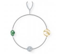 Bracelet Strand Swarovski Remix Collection Wishbone, vert, métal rhodié 5528718