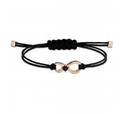 Bracelet Swarovski Infinity, noir, métal doré rose 5533721