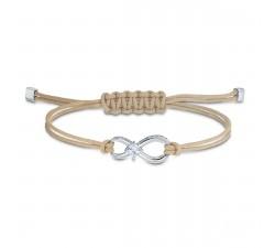 Bracelet Swarovski Infinity, beige, métal rhodié 5533725
