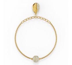 Bracelet Strand Swarovski Remix Collection Shell, blanc, métal doré 5535247
