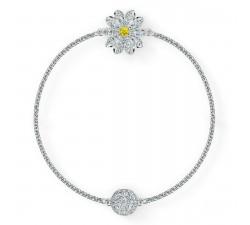 Bracelet Strand Swarovski Remix Collection Flower, blanc, métal rhodié 5535299
