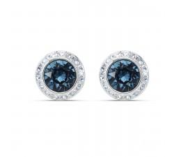Boucles d'oreilles clous Angelic, bleu, métal rhodié Swarovski 5536770
