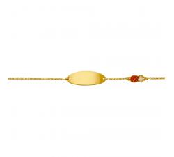 Gourmette bébé or jaune 375/1000 by Stauffer