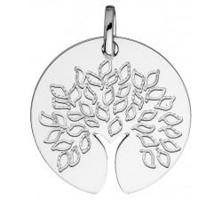 Pendentif arbre de vie or gris 750/1000 by Stauffer