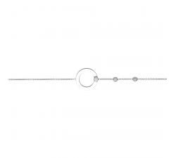 Bracelet cercle or gris 375/1000, oxydes de zirconium by Stauffer
