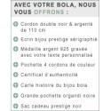 Bola de grossesse plaqué or rose Maëla NATIVEE AR0313