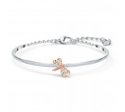 Bracelet-jonc Eternal Flower, rose, finition mix de métal Swarovski 5518138
