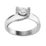 Bague platine 950/1000 et diamants 0,29 carat by Stauffer