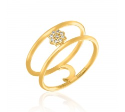 Bague large MOONSTAR Agatha - Cristal - Doré - 02240313-137