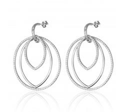 Boucles d'oreilles pendantes BOTANIC Agatha - Cristal - Argent 925/1000 - 02320633-136-TU