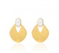 Boucles d'oreilles clip CARAIBES Agatha - Nacre - Doré - 02380177-831-TU